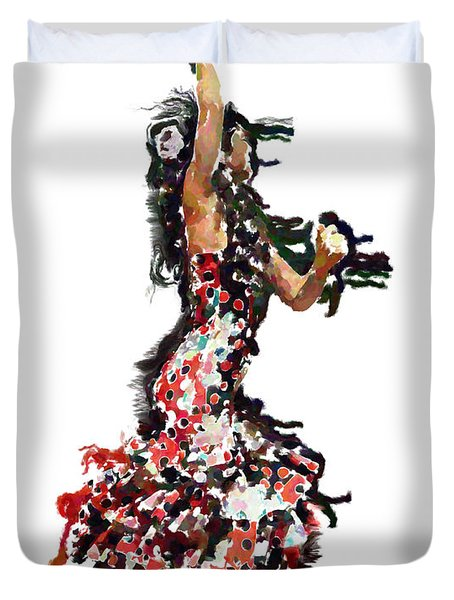 Flamenco Series #12 Duvet Cover by Mary Machare