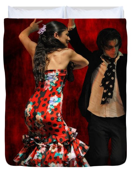 Flamenco Series #9 Duvet Cover by Mary Machare