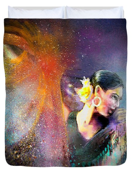 Flamencoscape 04 Duvet Cover by Miki De Goodaboom