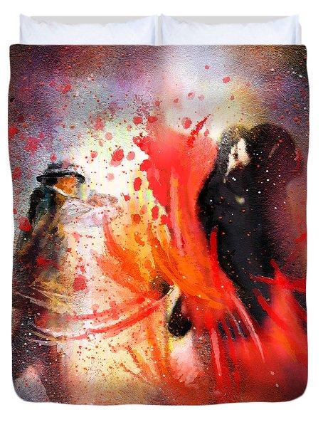 Flamencoscape 07 Duvet Cover by Miki De Goodaboom