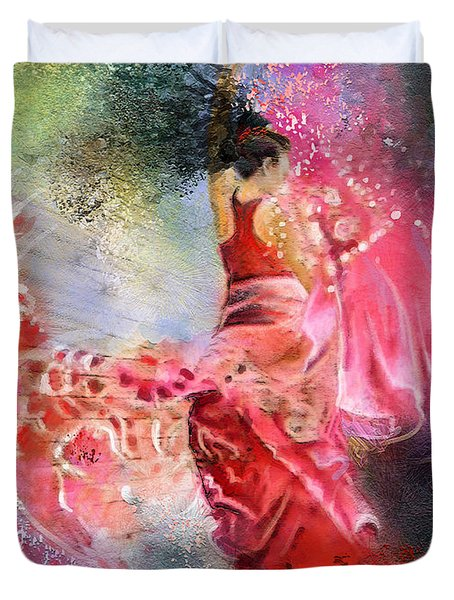 Flamencoscape 13 Duvet Cover by Miki De Goodaboom