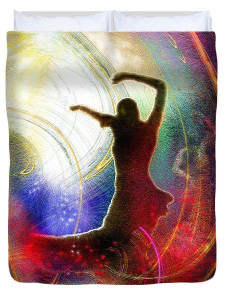 Flamencoscape 16 Duvet Cover by Miki De Goodaboom