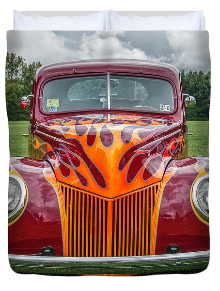 Flames Duvet Cover by Guy Whiteley