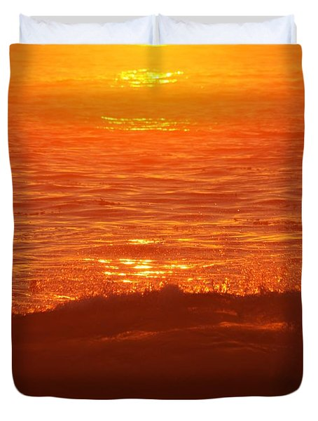 Flames With No Horizon Duvet Cover by Amy Gallagher