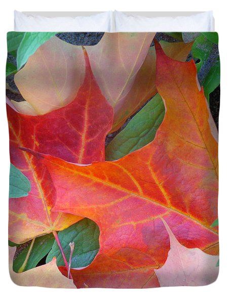 Flaming Autumn Duvet Cover