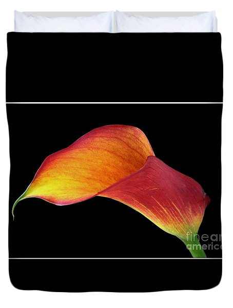 Flaming Calla Duvet Cover by Chris Anderson