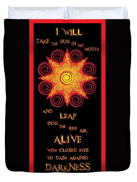 Flaming Celtic Sun Duvet Cover
