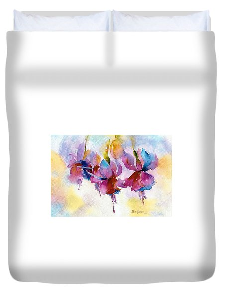 Flaming Fuchsias Duvet Cover by Pat Yager