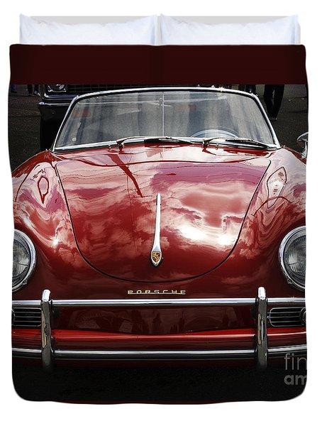 Flaming Red Porsche Duvet Cover by Victoria Harrington
