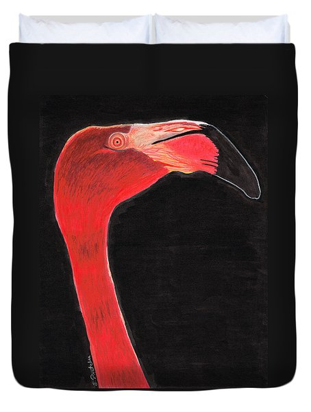 Flamingo Art By Sharon Cummings Duvet Cover by Sharon Cummings