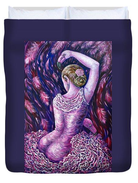 Flamingo Dancer Duvet Cover by Gail Butler