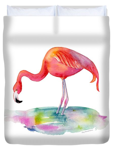 Flamingo Dip Duvet Cover