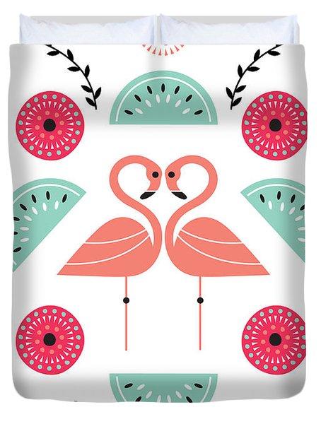 Flamingo Flutter Duvet Cover by Susan Claire