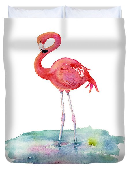 Flamingo Pose Duvet Cover