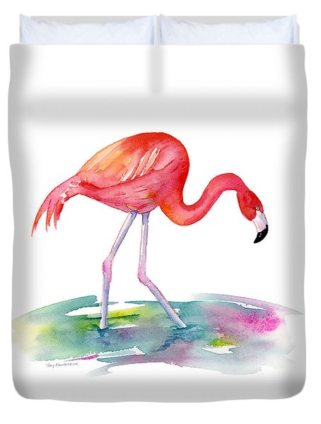 Flamingo Step Duvet Cover