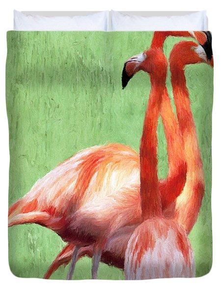 Flamingo Twist Duvet Cover