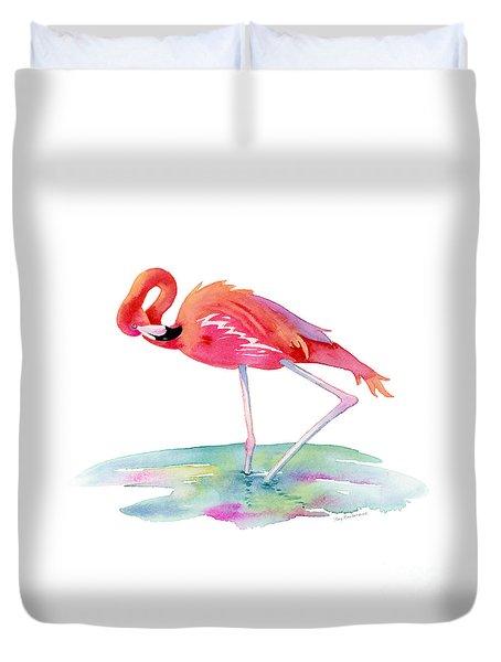 Flamingo View Duvet Cover by Amy Kirkpatrick