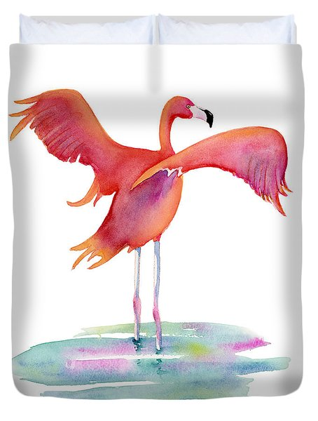 Flamingo Wings Duvet Cover