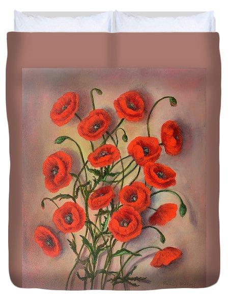 Flander's Poppies Duvet Cover