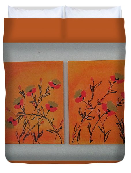 Flanders Poppies Duvet Cover by Sharyn Winters