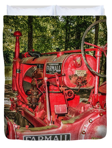 Flash On Farmall Duvet Cover