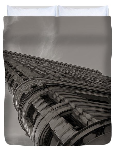 Flat Iron Building Duvet Cover