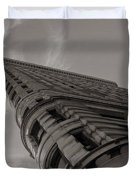 Flat Iron Building Duvet Cover by Angela DeFrias