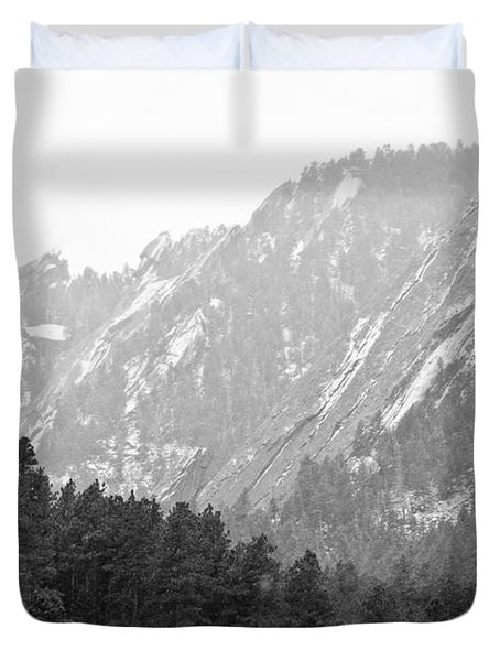 Flatiron In Black And White Boulder Colorado Duvet Cover by James BO  Insogna