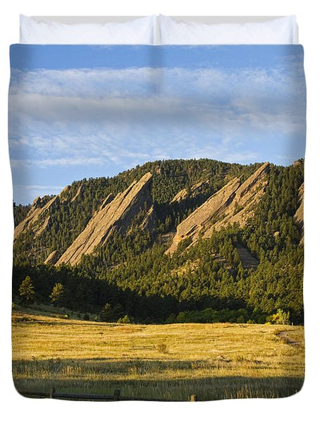 Flatirons From Chautauqua Park Duvet Cover by James BO  Insogna