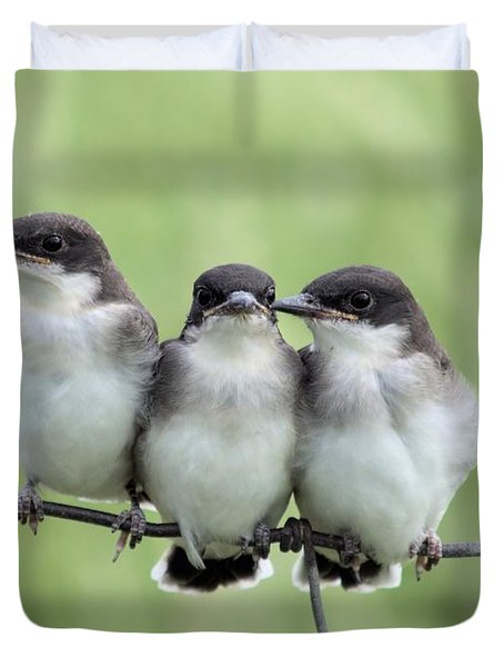 Fledged Siblings Duvet Cover