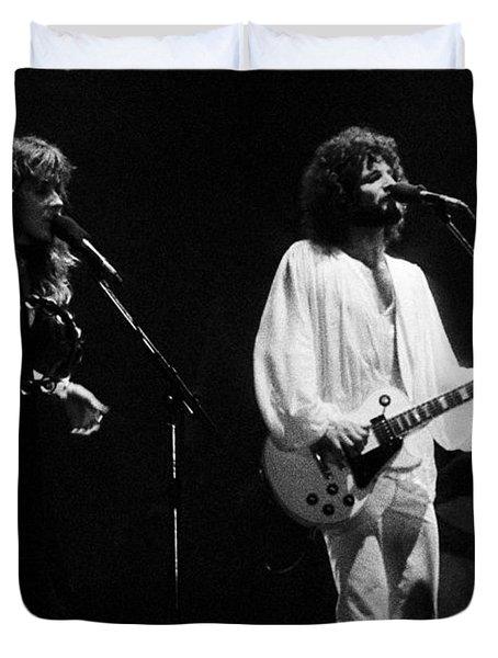 Fleetwood Mac In Amsterdam 1977 Duvet Cover