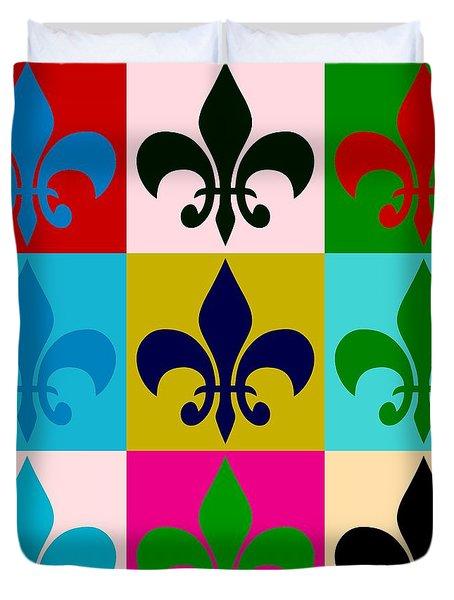 Fleur-de-lis Collage Duvet Cover