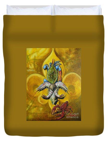 Fleur De Lis Duvet Cover by Theon Guillory