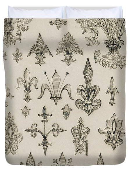 Fleur De Lys Designs From Every Age And From All Around The World Duvet Cover by Jean Francois Albanis de Beaumont