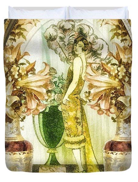 Fleurdelys Duvet Cover by Mo T