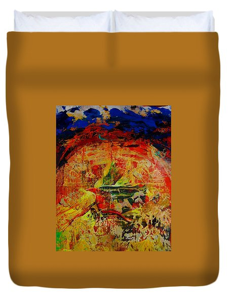 Free Bird Duvet Cover by Jean Cormier