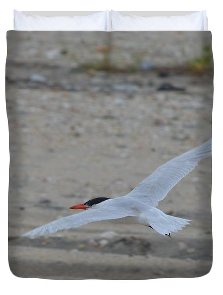Duvet Cover featuring the photograph Flight by James Petersen