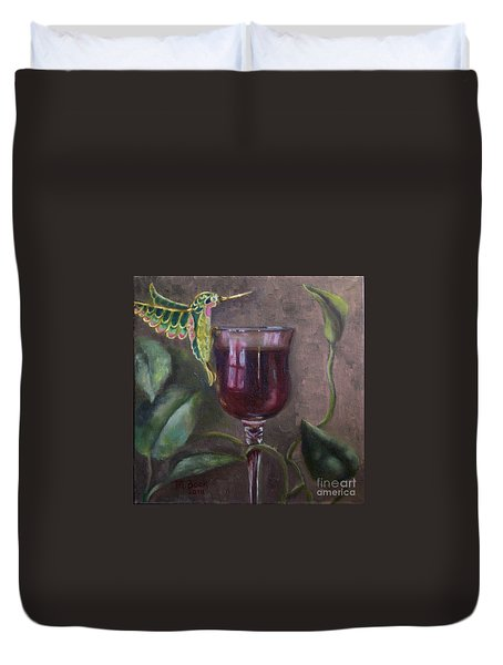 Flight Of Fancy Duvet Cover by Marlene Book