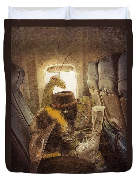 Flight Of The Bumblebee Duvet Cover