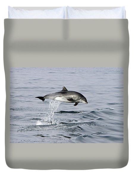 Flight Of The Dolphin Duvet Cover
