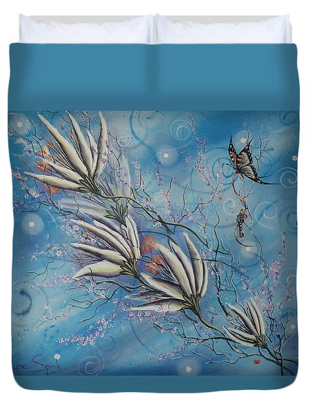 Flight Of The First Key Duvet Cover