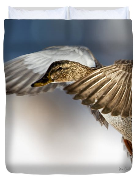 Flight Of The Mallard Duvet Cover