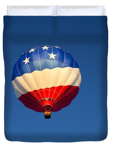 Flight Of The Patriot Duvet Cover by Mike  Dawson