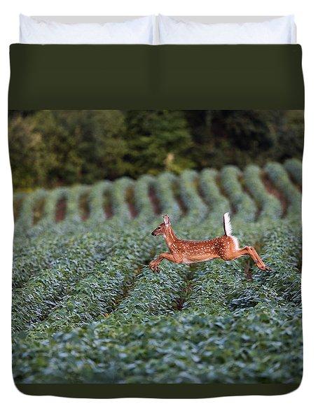 Flight Of The White-tailed Deer Duvet Cover