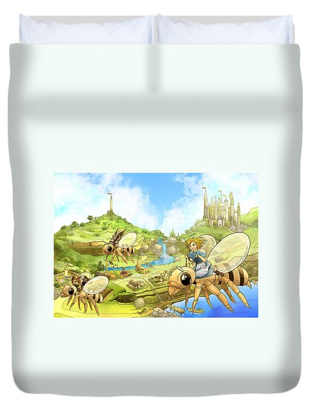 Flight Over Capira Duvet Cover