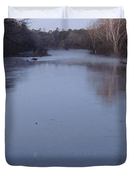 Duvet Cover featuring the photograph Flint River 1 by Kim Pate