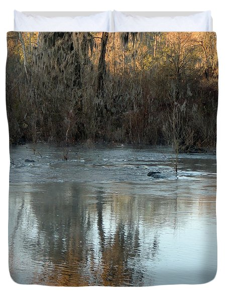 Duvet Cover featuring the photograph Flint River 17 by Kim Pate