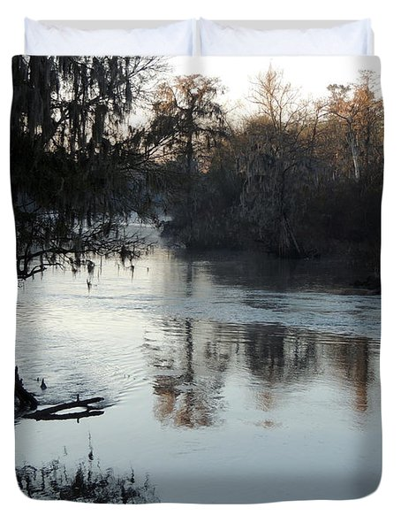 Duvet Cover featuring the photograph Flint River 20 by Kim Pate