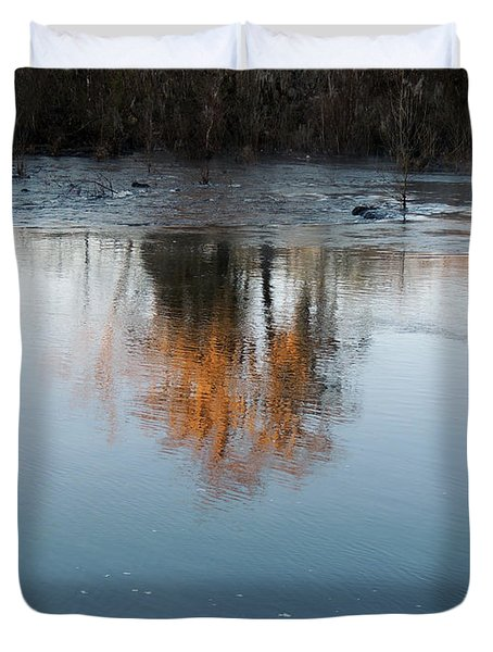Duvet Cover featuring the photograph Flint River 21 by Kim Pate