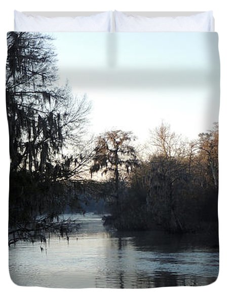Duvet Cover featuring the photograph Flint River 23 by Kim Pate